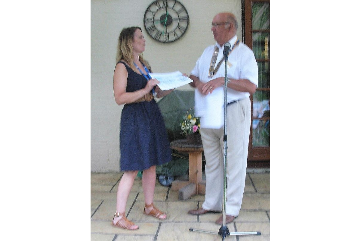 "Letchworth Howard Handover and Presentations eveningclub's Handover and Presentations evening - ""This club is just amazing,"" said Lisa Seccombe of Garden House Hospice, Letchworth Garden City, after receiving a cheque for £3,035 from retiring Letchworth Howard president Dave Glanville."