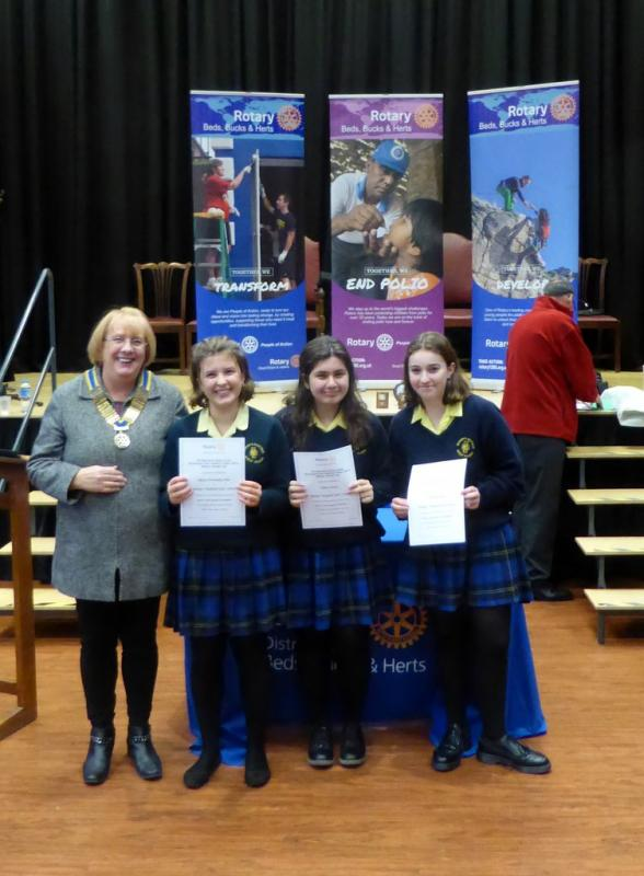 Mid Herts Youth Speaks Competitions - Mid Herts Youth Speaks - Senior Team from Bishops Hatfield Girls School