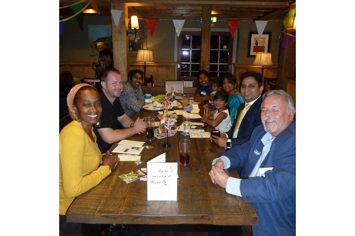 East Meets West - Guests were treated to a mix of English and Indian Cuisine