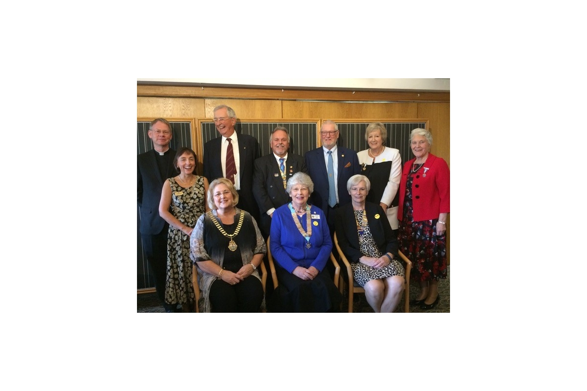 DG's Newsletter - November 2018 - With D26 Inner Wheel Chair Sue Stevens and National Inner Wheel President Ann Acaster