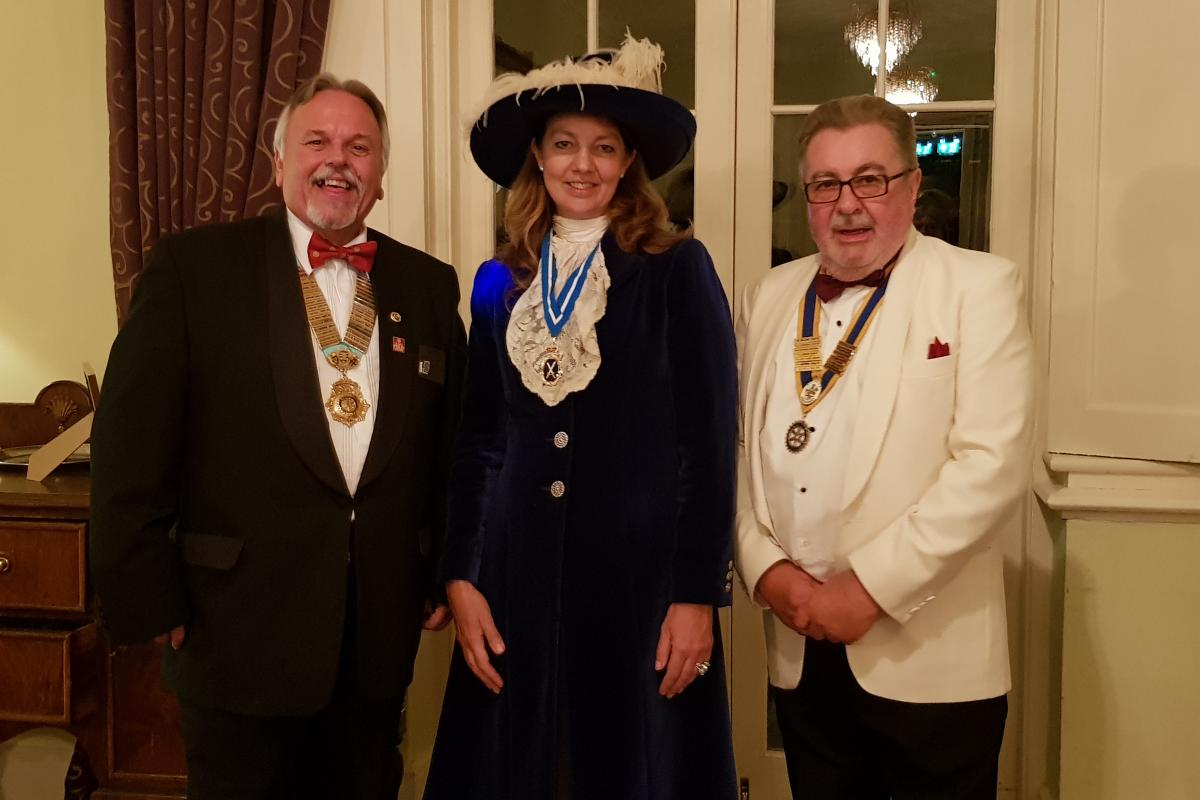 District Governor's Newsletter - October 2019 - DG Dave, President Keith and Hertfordshire High Sheriff Suzy Harvey