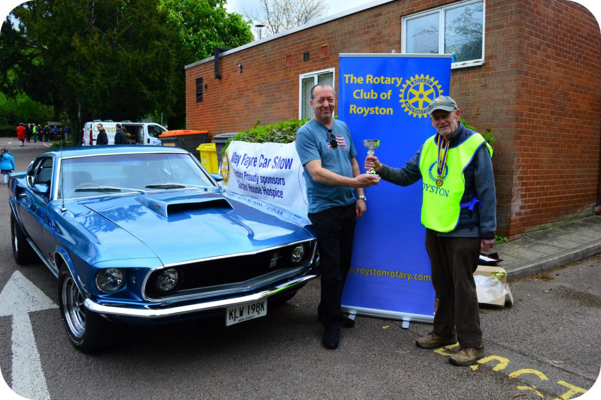 Royston Historic Vehicle Show - Best Car in Show - 1969 Ford Mustang, owned by Ritchie Penn