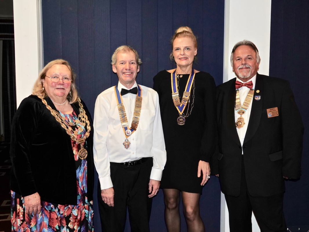 Watford Rotary Club Celebrates 95 Years Of Service - Debbie, Tim, Isabelle and Dave