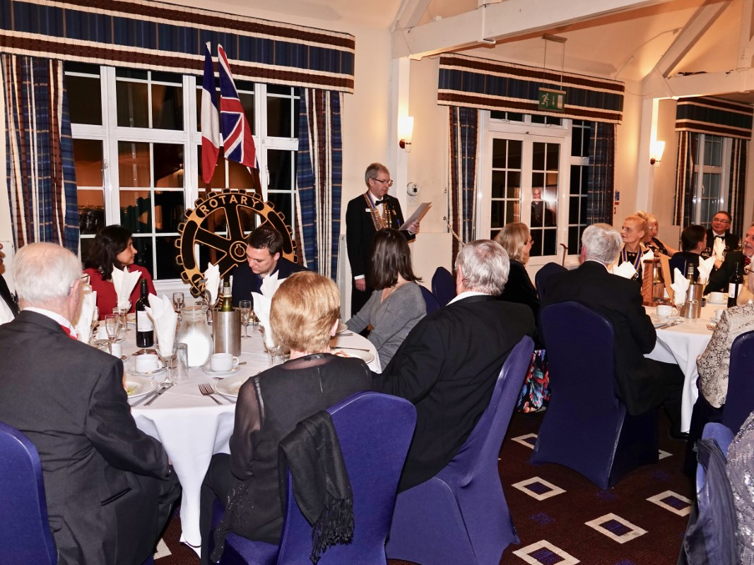 Watford Rotary Club Celebrates 95 Years Of Service - Tim addresses the diners at the black tie dinner