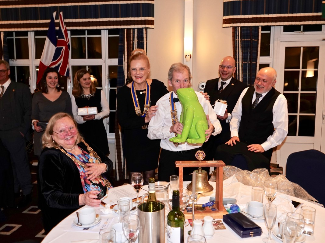 Watford Rotary Club Celebrates 95 Years Of Service - Try as he could, it remained a frog