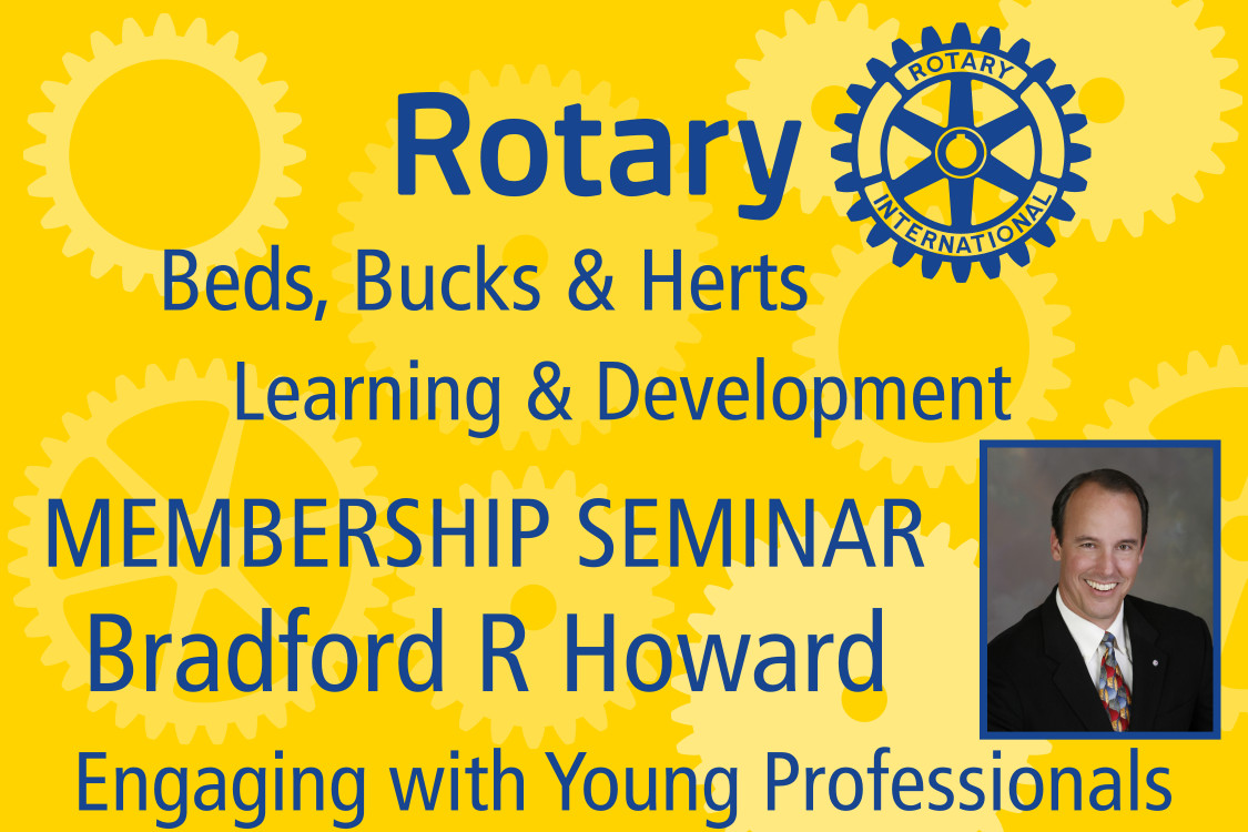District Governor's Newsletter - October 2019 - With past RI Director Bradford R Howard - 'Engaging Young Professionals'