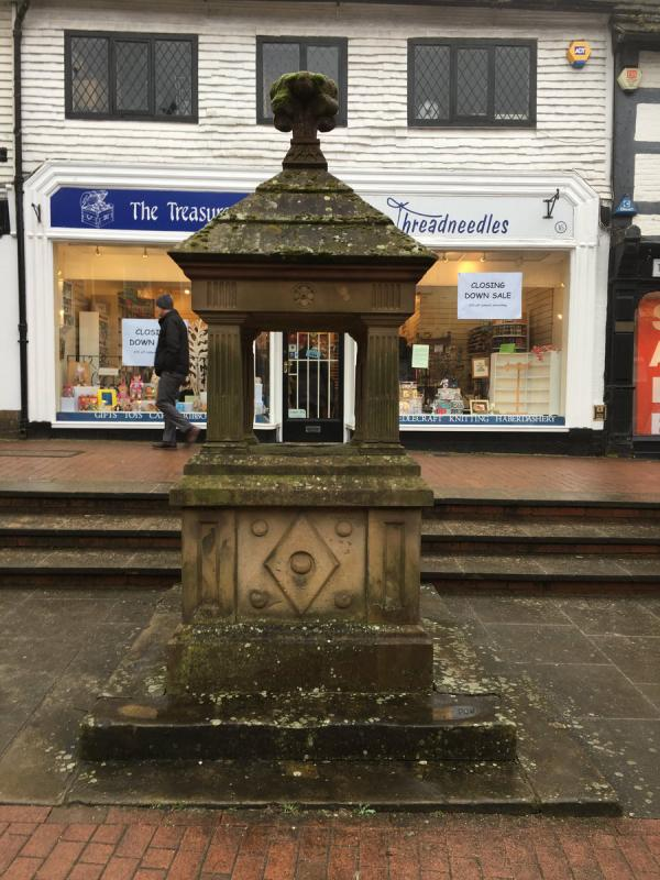 Historic Drinking Fountain in East Grinstead High Street -