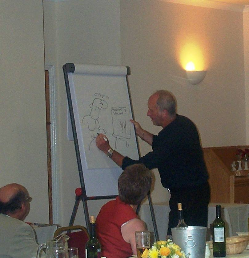 President Installation - Tony Husband's cartoons auctioned in aid of Willow Wood Hospice