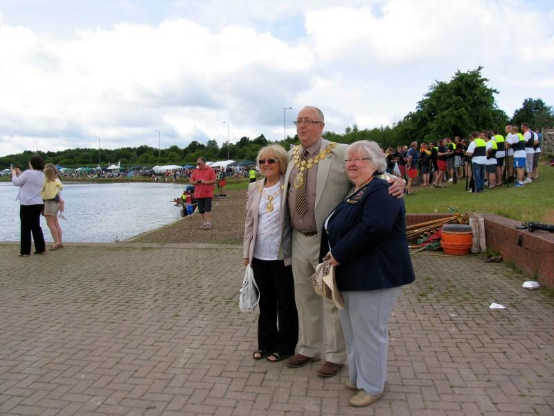 A FANTASTIC DAY ON PUGNEYS LAKE!! - DG Hazel Haas with the Mayor and Mayoress of Kiirklees (Custom)