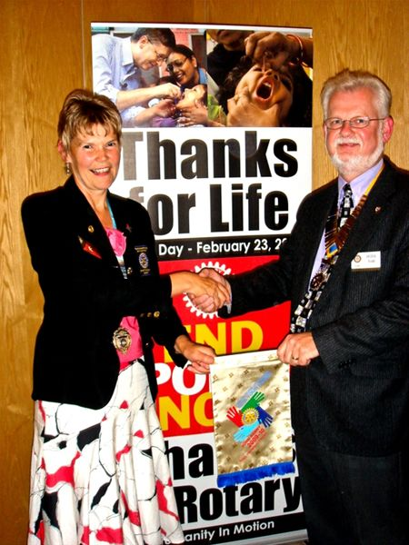Rotary Thames Valley (1090) District Governor Terry Kenyon visit -
