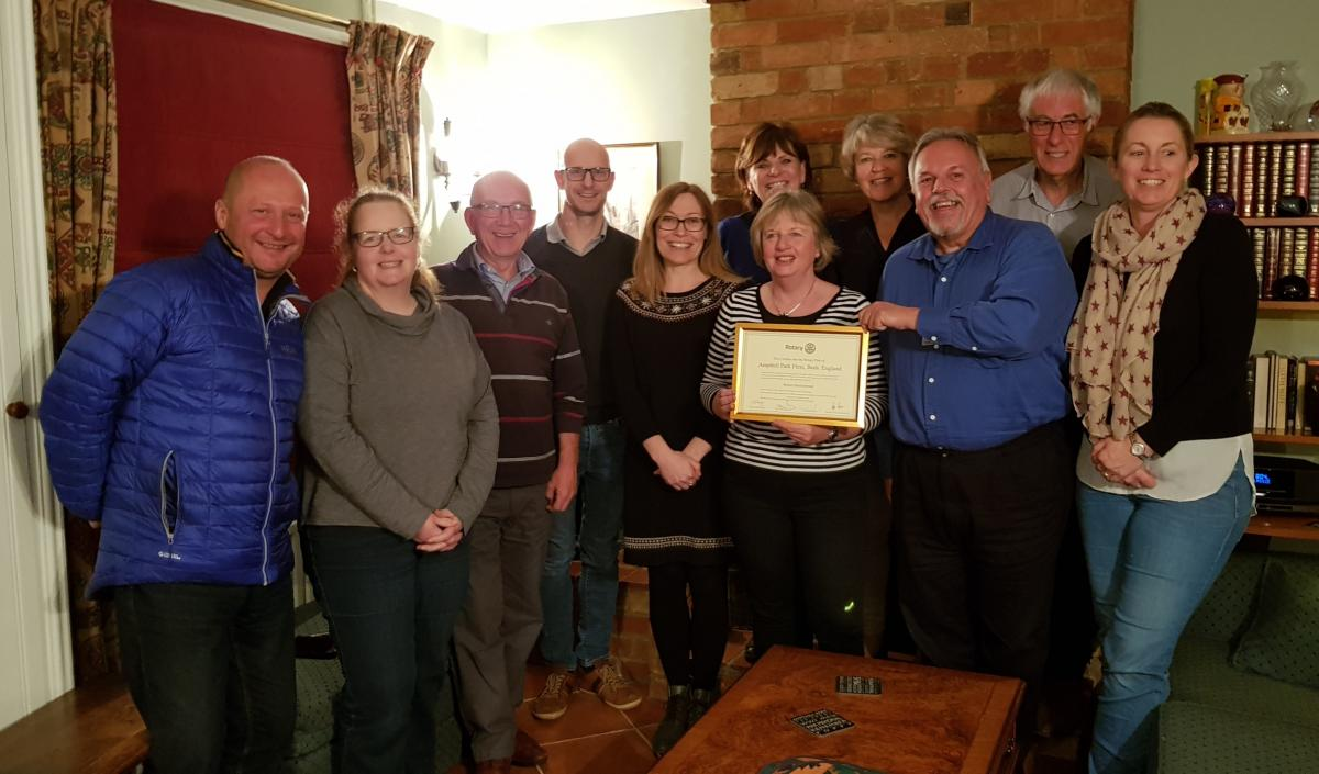 District Governor's Newsletter - April 2019 - It was a pleasure to present Ampthill Park Flexi with their charter, the first new club in our District for 10 years.