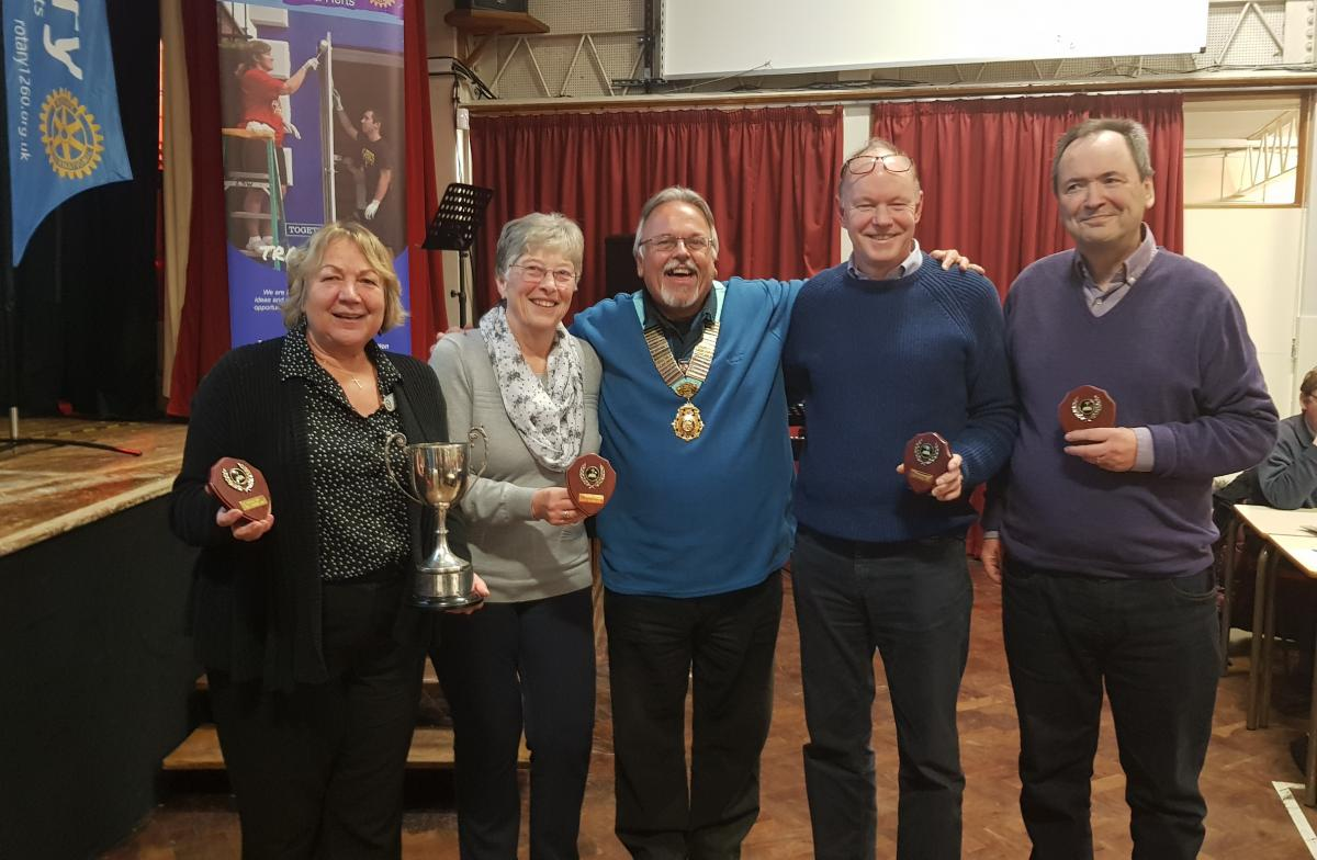 District Governor's Newsletter - February 2019 - Winning Team from District Quiz – Brookmans Park