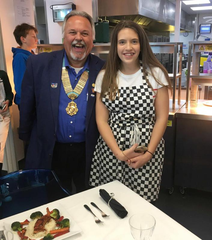 District Governor's Newsletter - February 2019 - District Young Chef winner – Lily-Rose Davies