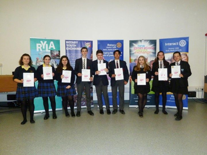 District Governor's Newsletter - February 2019 - Winners - Rushmore School, Bedford