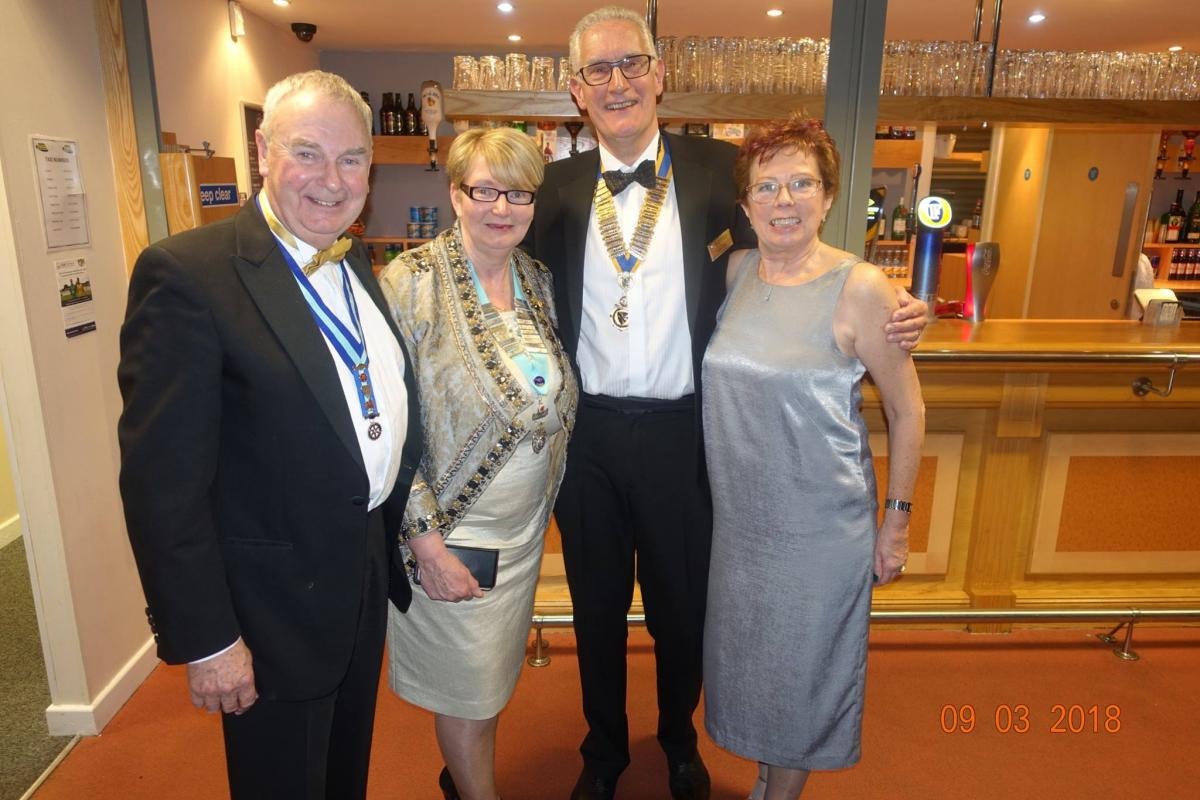 Nantwich Rotary Charter Night - DG Beryl, Two Tonys and Clare