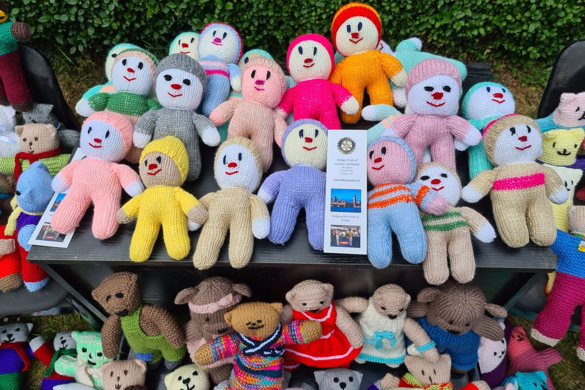 Teddy Bears for Buddy Bags Charity - received from London Centenary Rotary E-Club