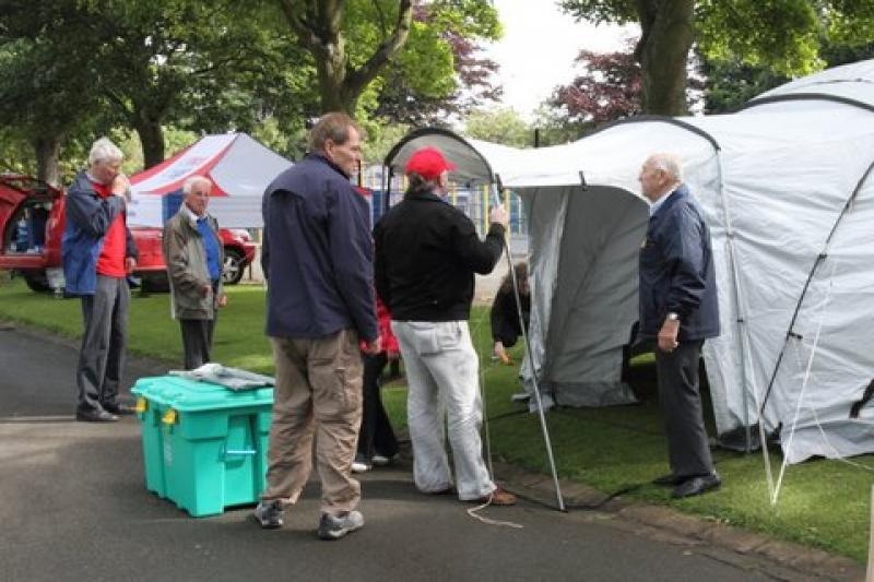Beveridge Park Festival 2012 - No room for the awning.