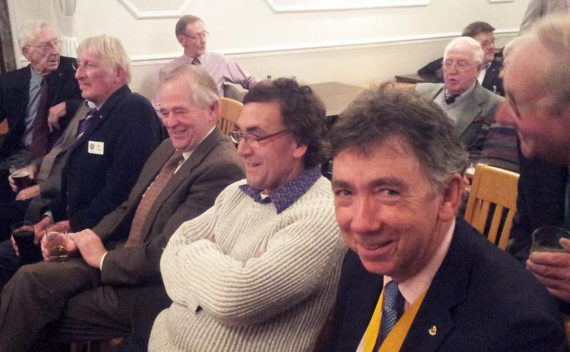 District Quiz - home to Eyemouth - Duns Rotarians fill up the front row in almost frenzied anticipation of the excitement ahead.