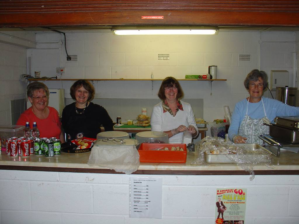 2007 Raft Race - Hilary and her catering team, supplying food and drink to hungry rafters