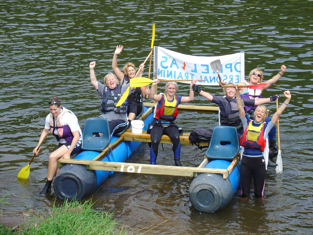2007 Raft Race - Ophelia's Personal Training  --  Womens Crew 1st place