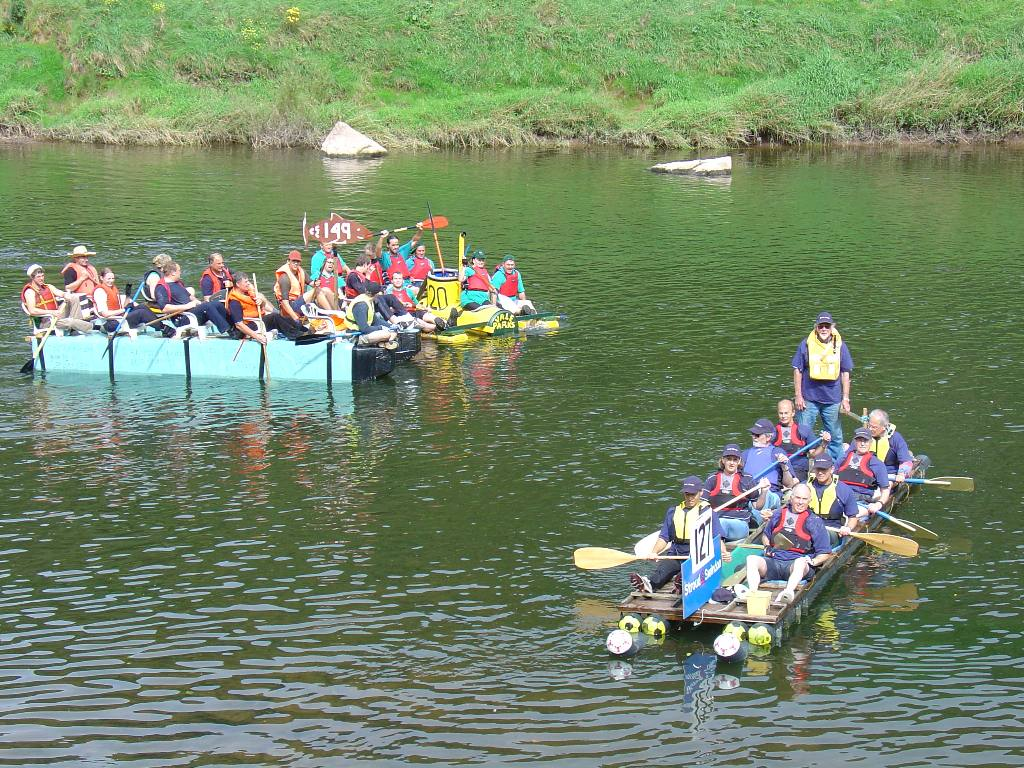 2007 Raft Race - Stroud Rotary Club (Number 127)   --  Mixed Crew 1st place