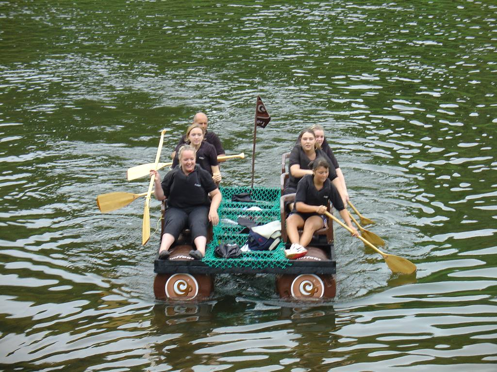 2007 Raft Race - Coffee 1  --  Winners of most sponsorship raised award