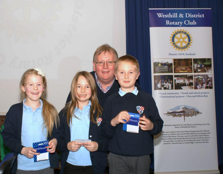 Rotary Primary Schools Fun Quizs P4 to P7 - P4 Winners