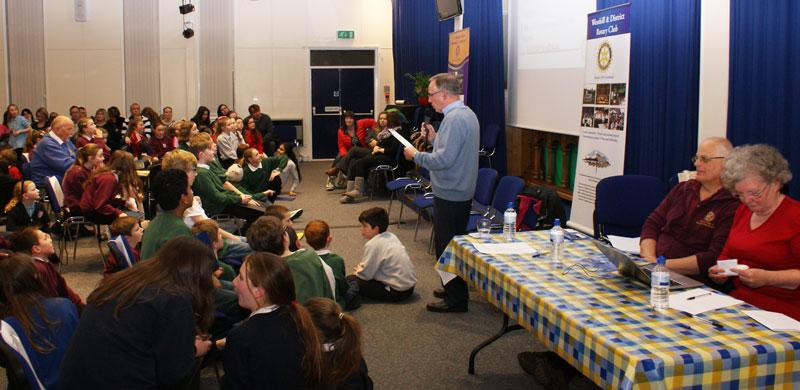 Rotary Primary Schools Fun Quizs P4 to P7 - Quizmaster Russell asks for some hush....SHHHHHH...where's my whistle when I need it?