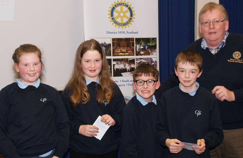 Rotary Primary Schools Fun Quizs P4 to P7 - P7 Winners after a tie break question...