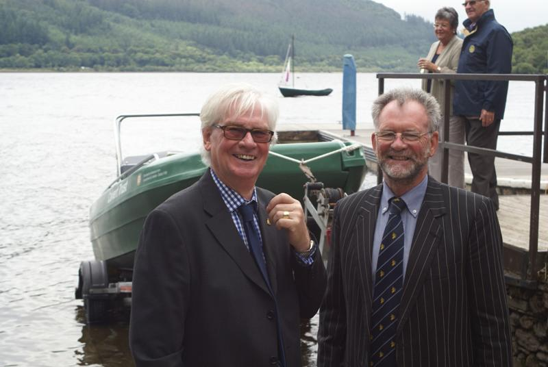 Launch of Calvert Trust Boat - Rtn David Gill with Sir Tony Cunningham MP