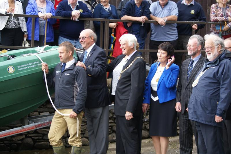 Launch of Calvert Trust Boat - Launching the Boat
