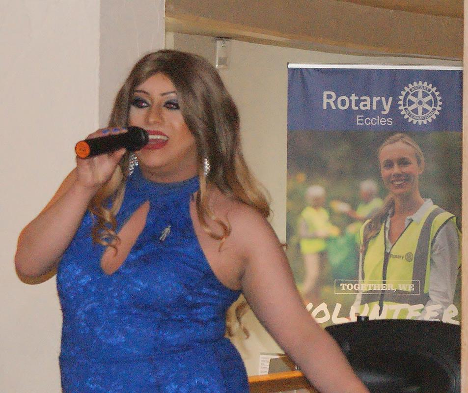 Afternoon Tea in aid of Prostate Cancer UK - Nadia Business, our entertainer for the afternoon.
