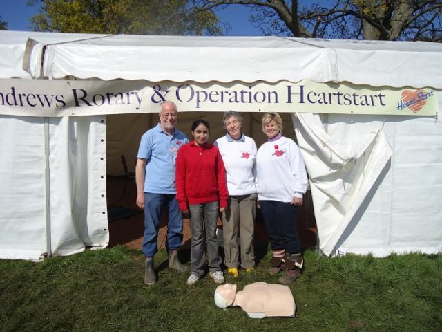 Stroke Awareness at Fife Agricultural Show -