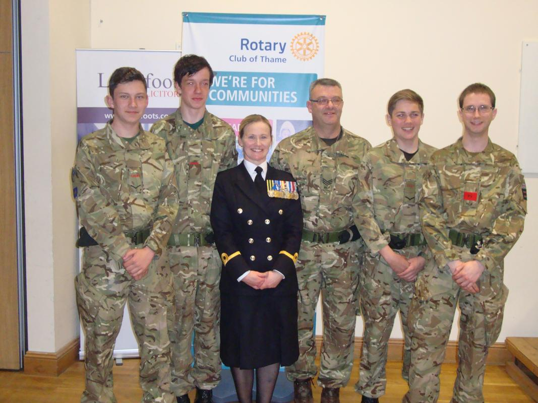 Michelle Ping's talk in Thame - with Thame Air Cadets
