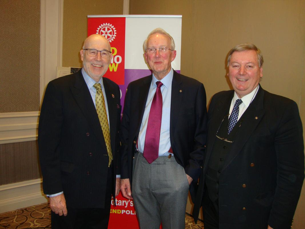 Speaker Supper Meeting - (centre) with Frank Quinn (left) and Richard Anderson (right)