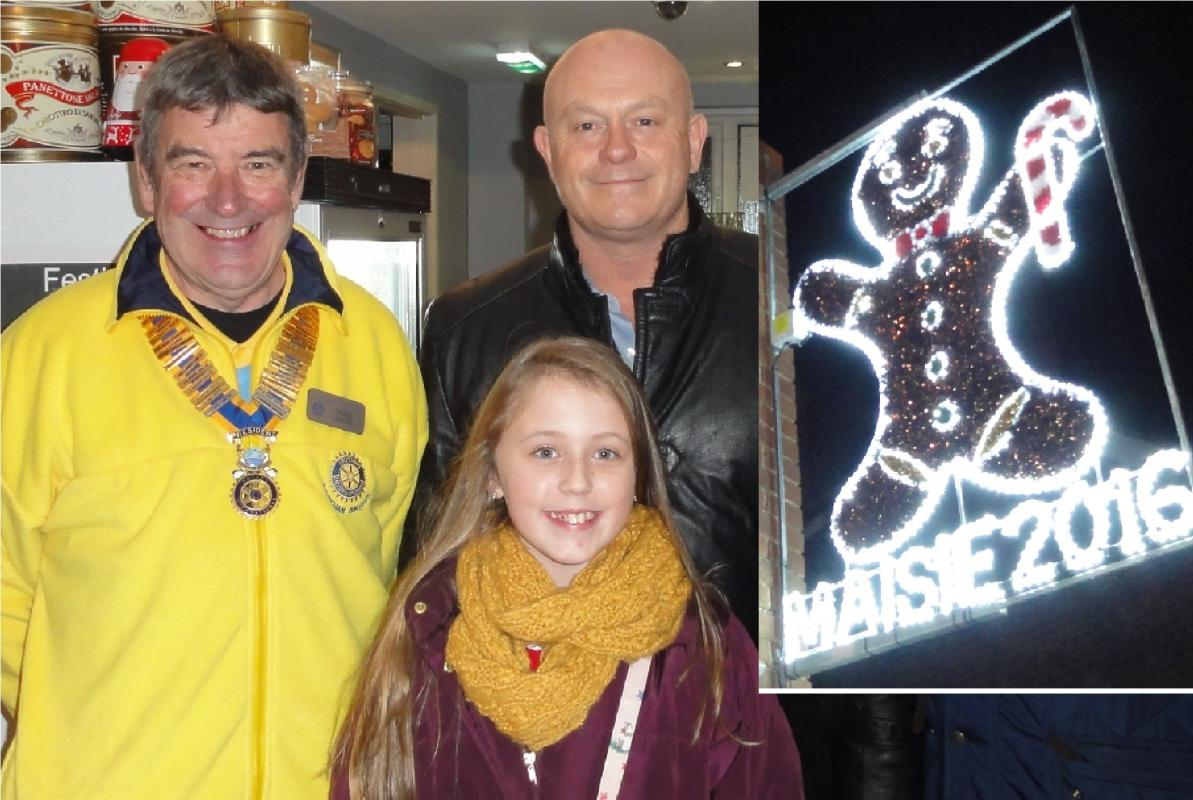 Community - Maisie Paice with her winning entry; flanked by Ross Kemp & President Chris Vance