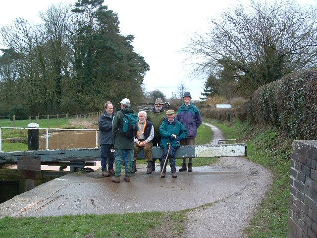 Winter Walk - 5th March 2007 - Taking a break at Tyrley Locks