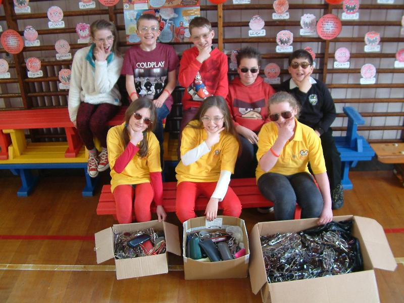Dunlop Primary School RotaKids Club - 712 pairs of Glasses collected for Vision Aid Overseas