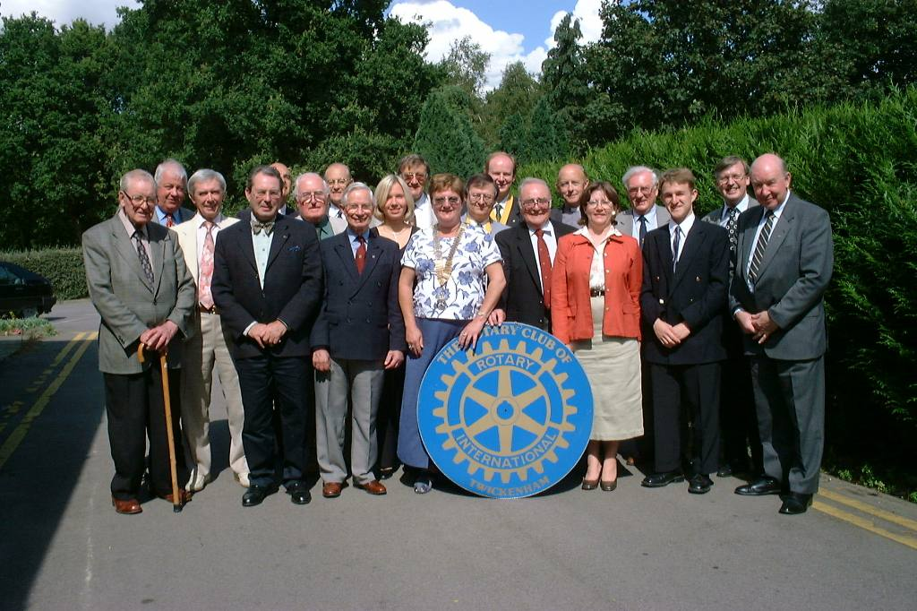 Club Members - Celebrating the new Millennium in 2000.