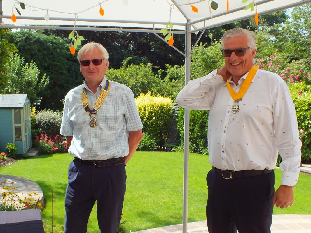 Organisation of Cookham Bridge Rotary Club - Incoming President Derek Tyler and President Elect for 2021 Paul Ovstedal