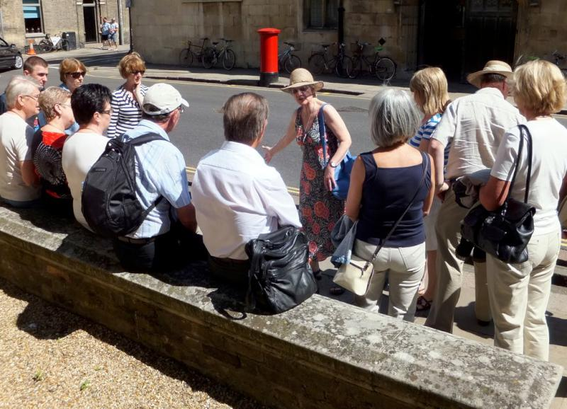 Visit from Pirmasens RC & Kiev Centre RC - May 2012 - Our guide explaining Wren's link with Cambridge