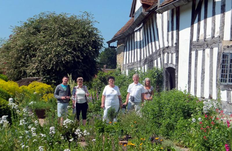 Visit from Pirmasens RC & Kiev Centre RC - May 2012 - Our friends from Kiev with Rtn Rosemary admiring the garden