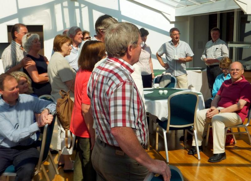 Visit from Pirmasens RC & Kiev Centre RC - May 2012 - An attentive audience
