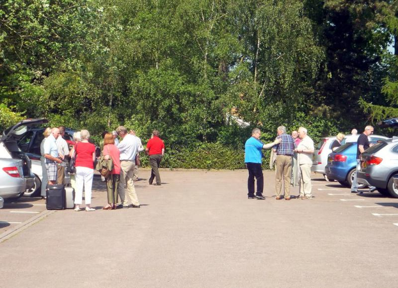 Visit from Pirmasens RC & Kiev Centre RC - May 2012 - Loading the cars ready to depart