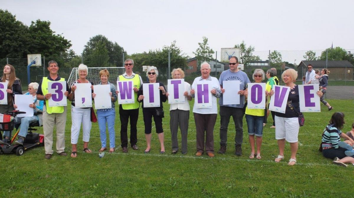 Wimborne TEXT World Record attempt -