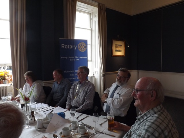 Visit by Holyhead Rotary Club to Dun Laoghaire Rotary Club Thursday 4th August 2016 - DSCF5068