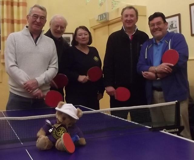 Reg the Roving Rotarian - Supporting our table tennis team