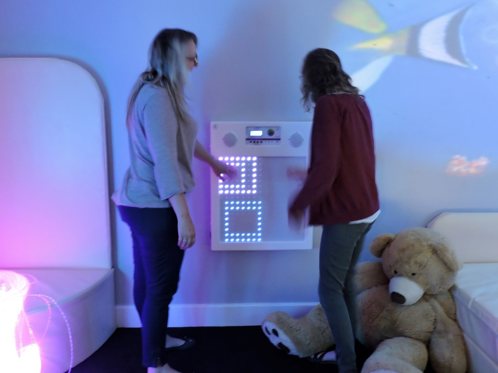 ROSE ROAD  SENSORY ROOM - The special Waterbed and Vibro Plinth are on the right of the picture