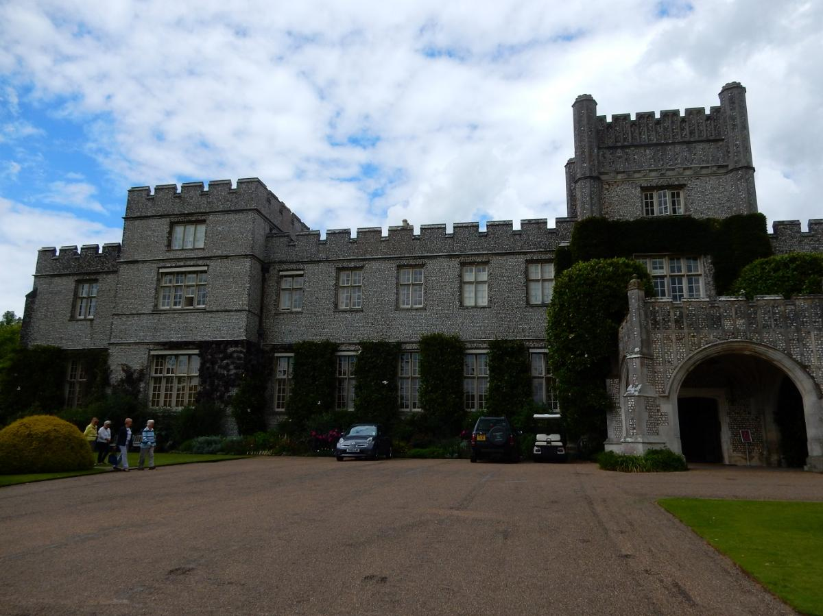 Annual Garden Visit 2016 to West Dean Gardens, West Sussex - The main building was covered in flint - right to the edges
