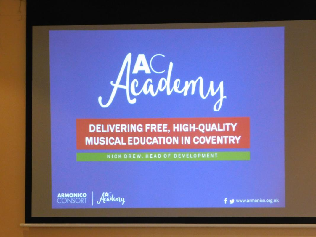 The Armonico Consort Academy - Nick Drew -